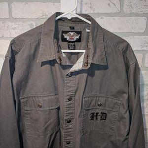 Harley Davidson embroidered button down shirt, xl